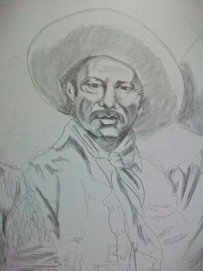 Custom Made Acrylic On Board Portrait For A Mural: Cowboys 5