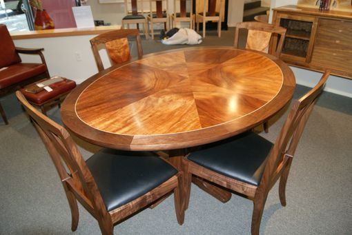 Custom Made Star Pattern Ellipse Oval Table