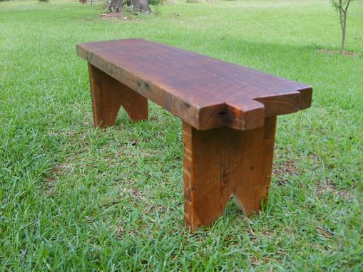 Custom Made Heart Pine Beam Bench