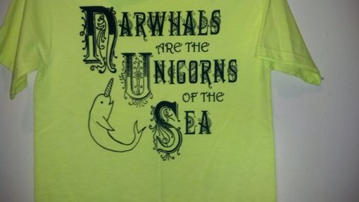 Custom Made Narwhals Are The Unicorns Of The Sea, Original Screen Printed Teen's Xl (Adult Small)