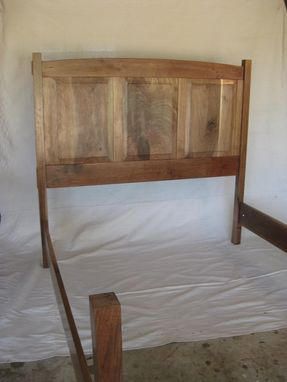 Custom Made Contemporary Walnut Queen Size Bed