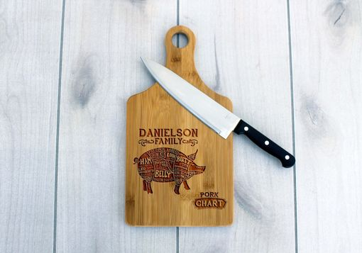 Custom Made Personalized Paddle Board -- Cb-Pad-Danielsonfamilyporkchart
