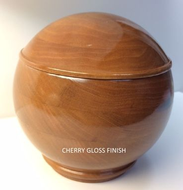 Custom Made Keepsake Box, Spherical, 5 Inch, Cherry