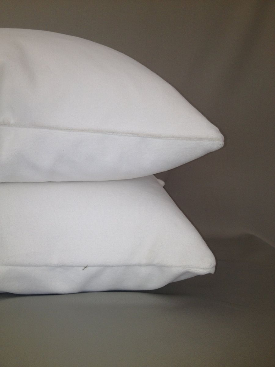 Custom Made White Velvet Pillow Cover By Fenia S Workroom