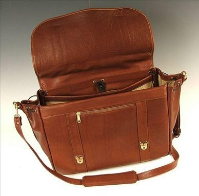 Custom Made Flap Briefcase For Laptop