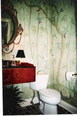 Custom Made Chinoiserie Powder Room