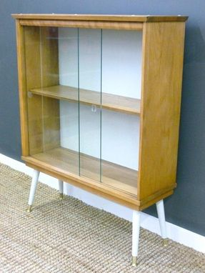 Handmade Mid Century Shelves With Glass Doors By Retrocraft Design Custommade Com