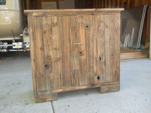 Custom Made Wide Wooden Shoe Cabinet