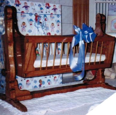 Custom Made Cradle In Cherry Or Oak