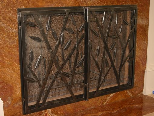 Custom Made Bamboo Motif Firescreen