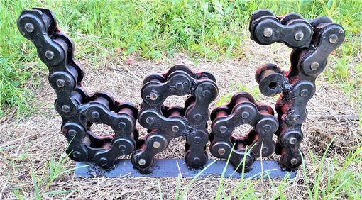 Custom Made Roller Chain Art Metal Ford Sign
