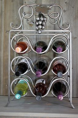 Custom Made 9 Bottle Wine Rack