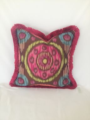 Custom Made Pink Circle Pattern Pillow Cover