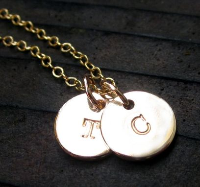 Custom Made 14k Gold Filled Charm With Hand Stamp