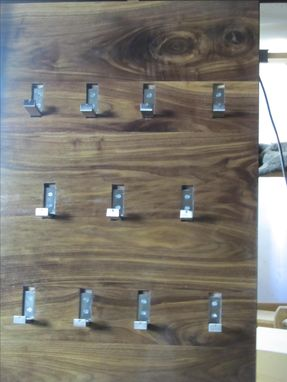 Custom Made Wall Hung Coat Rack With Folding Hooks
