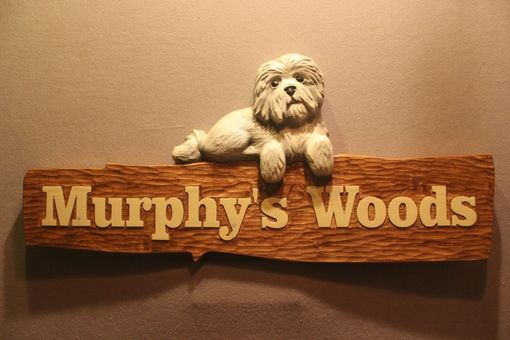 Custom Made Custom Dog Signs, Carved Dog Signs, Dog Carving, Pet Signs By Lazy River Studio