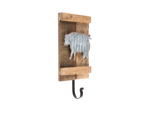 Custom Made Pig Wood Wall Decor With Hook