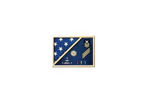 Custom Made Veteran Flag Display Case