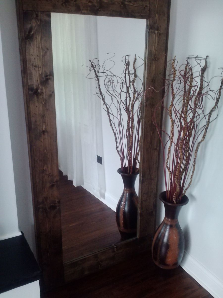 Wooden Mirror Stand Designs : Hand crafted large floor mirror reclaimed wood mirror standing