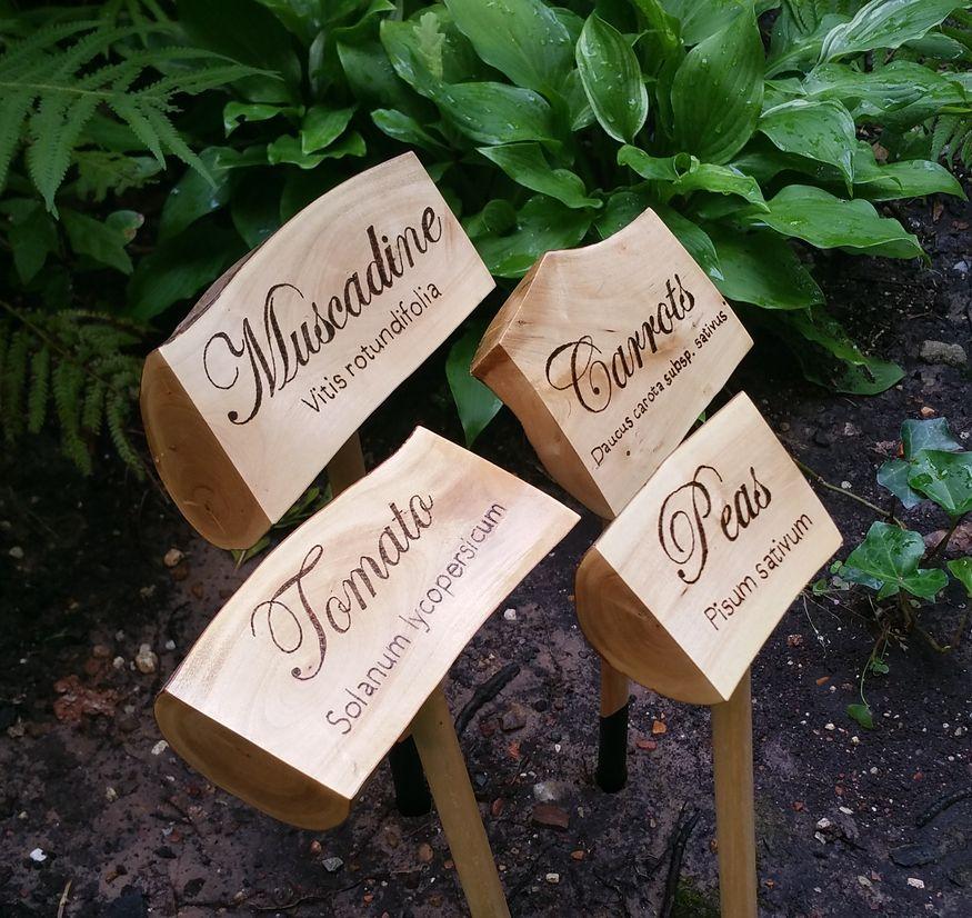 Custom Made Rustic Vegetable Garden Markers