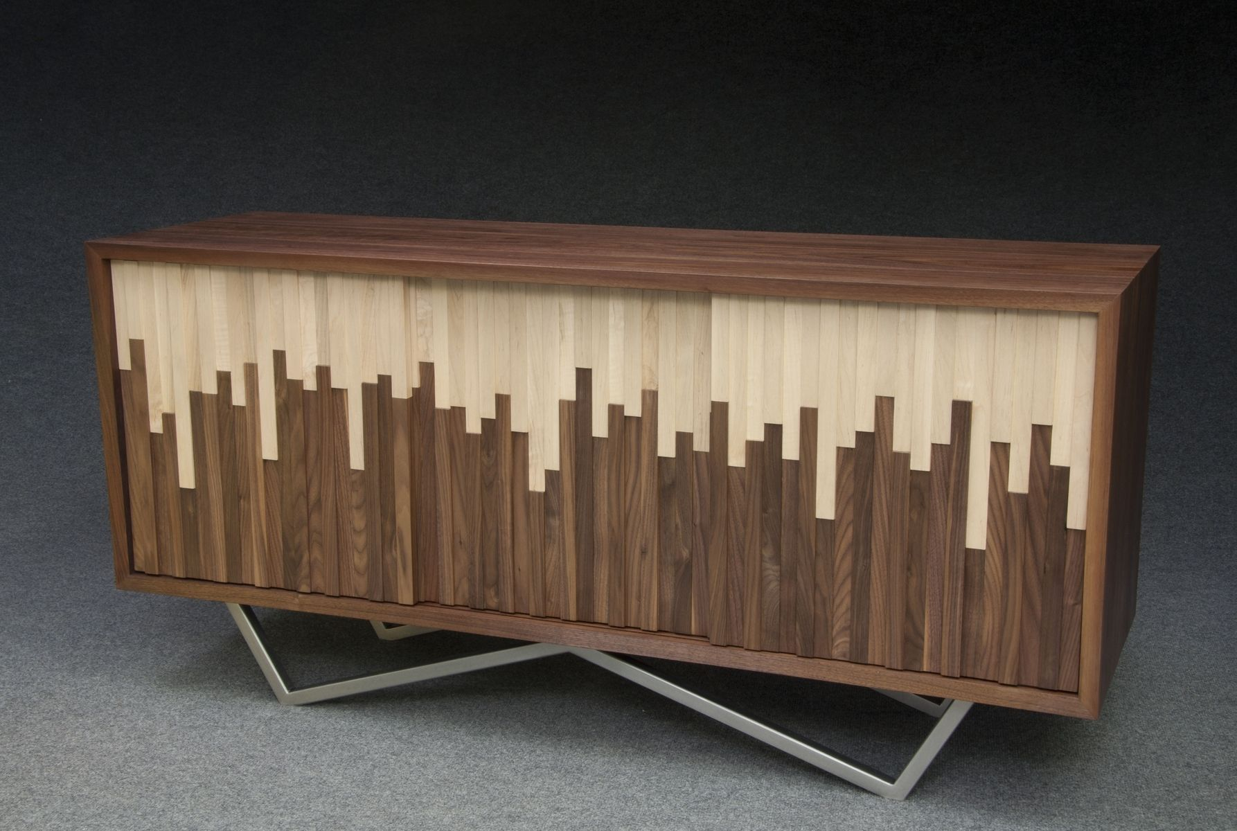 handmade wave credenza by modernist woodworking and furniture. Black Bedroom Furniture Sets. Home Design Ideas