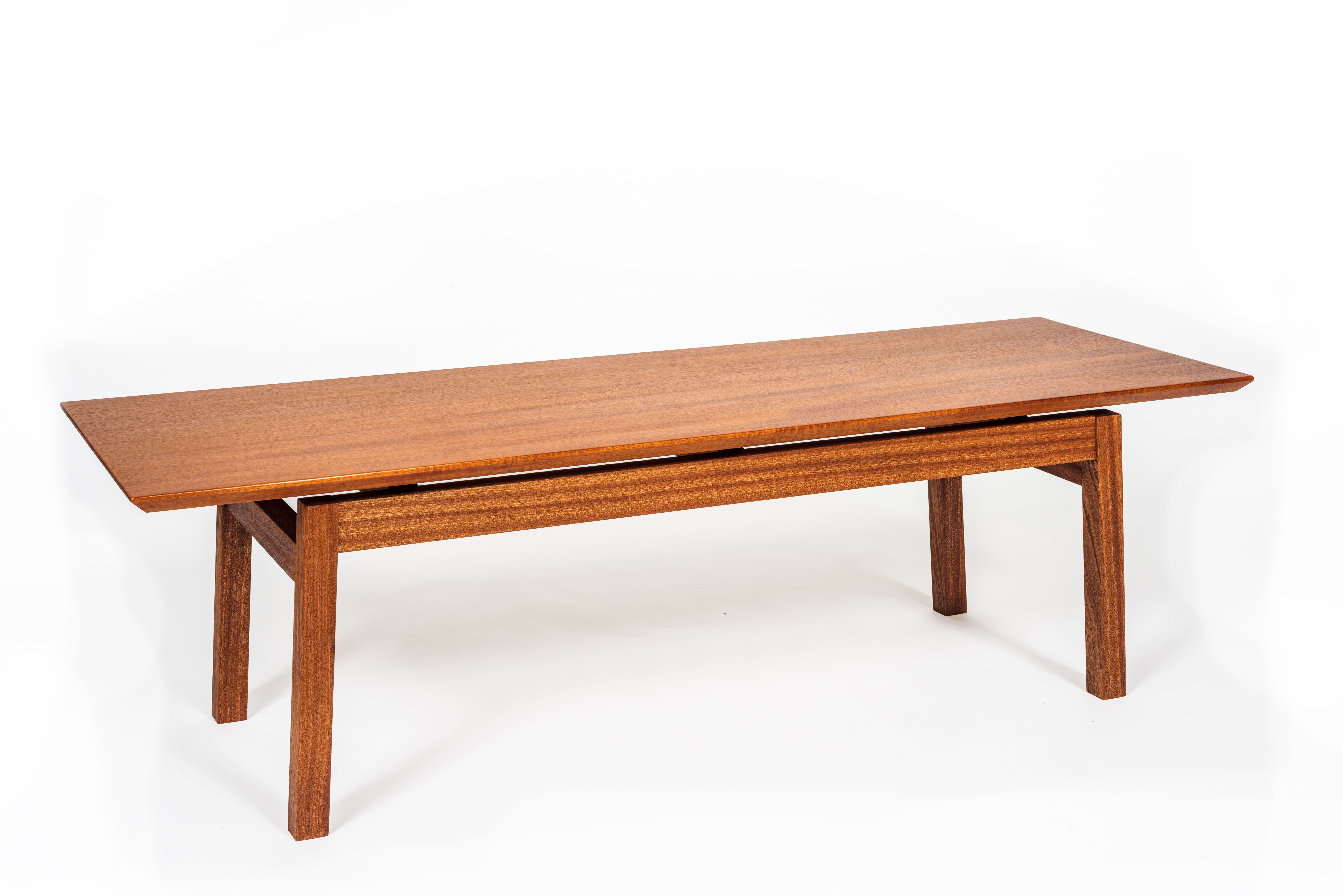 Custom Modern Floating Top Coffee Table by Ben Newman Furniture