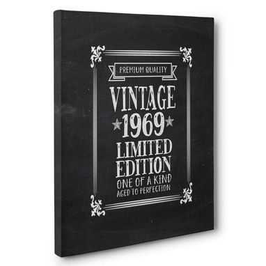 Custom Made Aged To Perfection 50 Years Old Vintage 1969 Canvas Wall Art