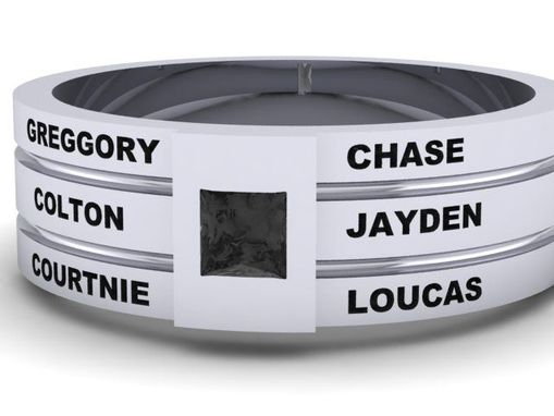 Custom Made Father's Ring With Children Names