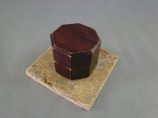 Custom Made Octagon Antique Style Ring Box With Free Engraving And Shipping. Rb-41