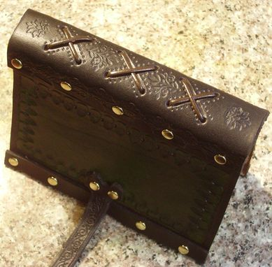 Handmade Hand Tooled Leather Journal With A Reptilian