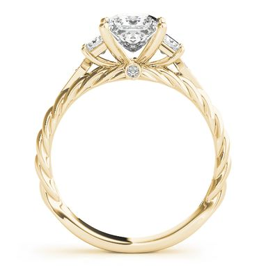 Custom Made Modern 14k Rose Gold Diamond Engagement Ring 1/6ct