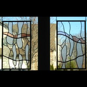 Custom Made Stained Glass Windows In French Doors