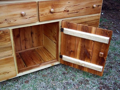 Custom Made Reclaimed Pine Dresser With Sweater Closet