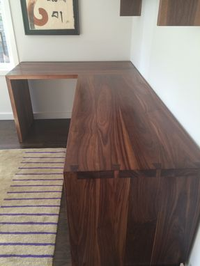 Custom Made Custom Walnut Desk With Dovetailed Sides