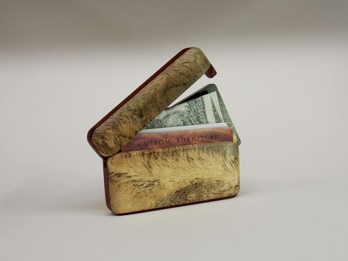Custom Made Wood Wallet And Business Card Holder