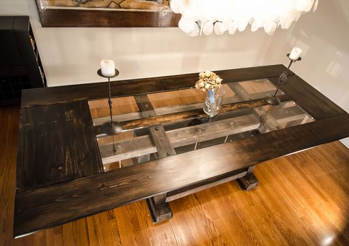 Custom Made Custom Industrial Contemporary Eclectic Dining Table