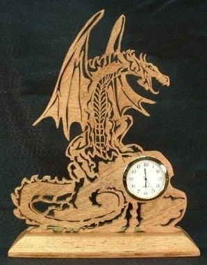 Custom Made Dragon Desk Clock