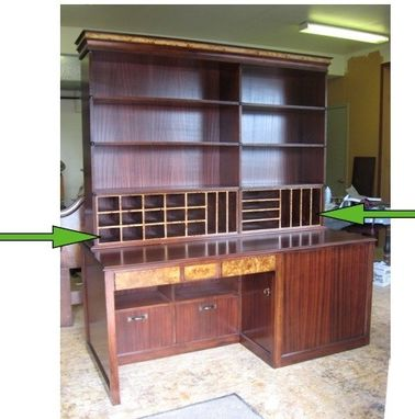 Custom Made Multi Storage Wall Sized Desk