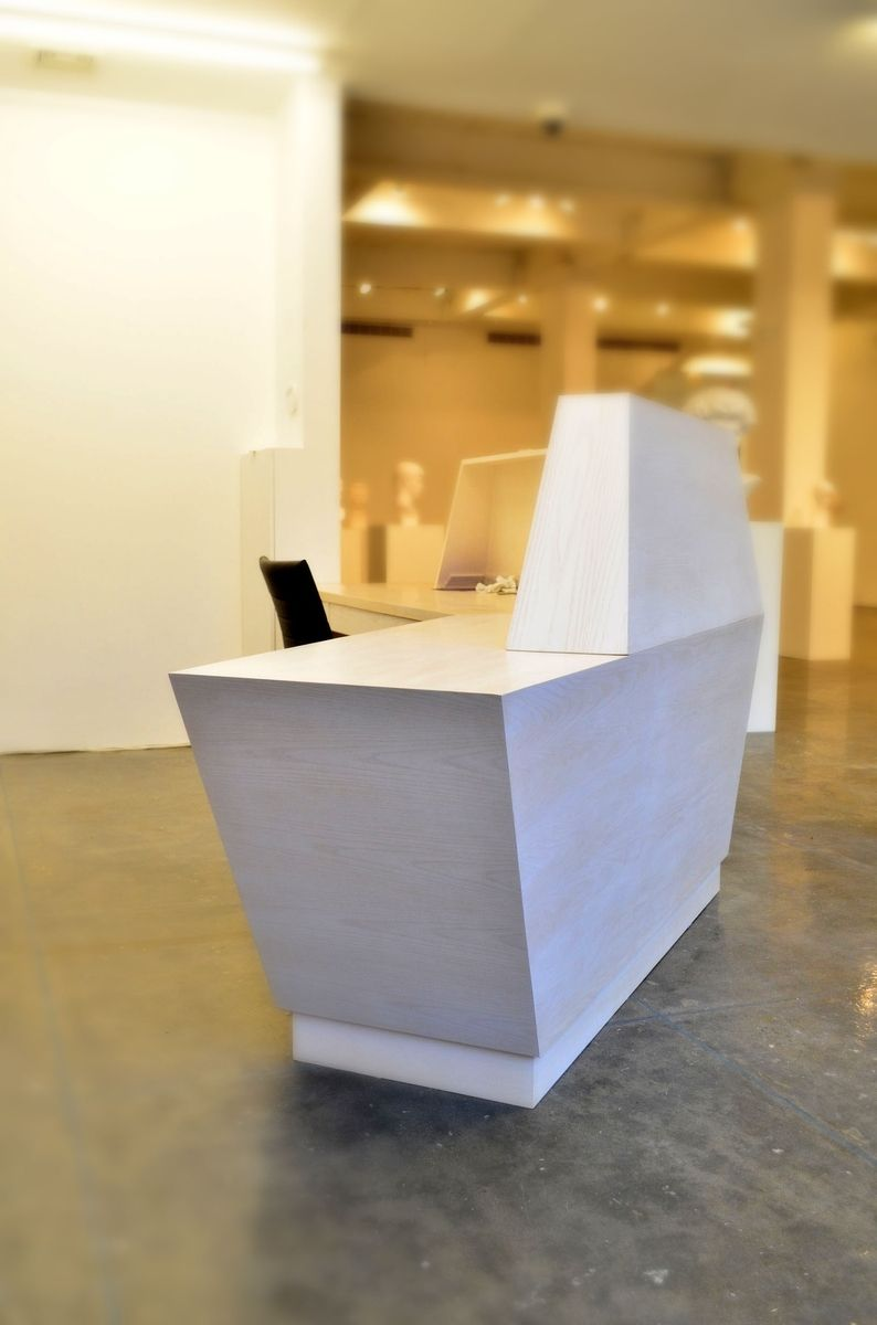Custom Made Futuristic Reception Desk By Open Square