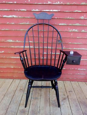 Custom Made Bow-Back Windsor Chair With Drawer 1770-1790