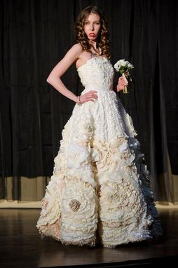 Custom Made Ruffled Wedding Dress - One Of A Kind - Flora Gown - Flower Wedding Dress