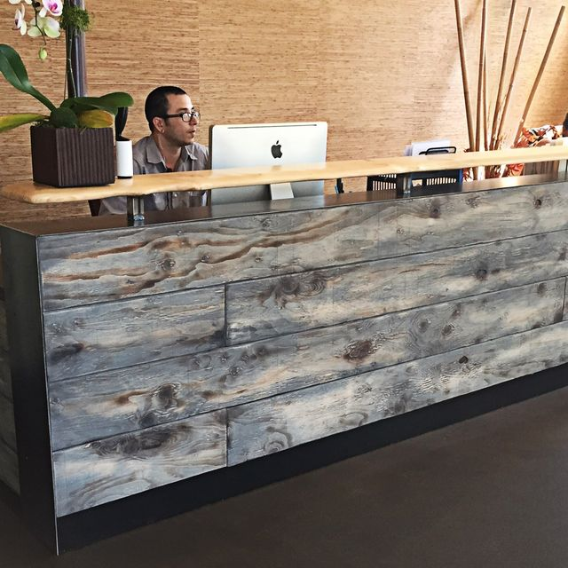 Greatest Buy a Hand Made #8 Reclaimed Distressed Wood Reception Desk, made  OL48
