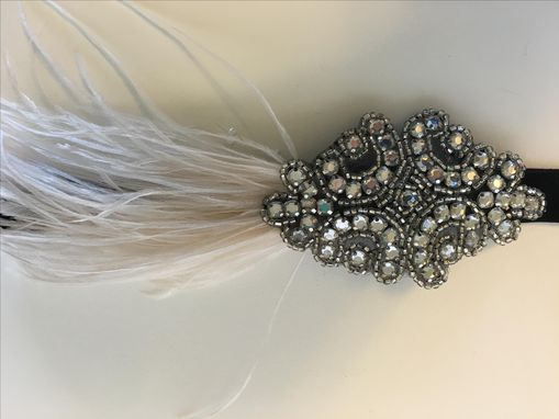 Custom Made Headband Beaded Headpiece Boho Hair Accessories 1920s Flapper Gatsby Feather