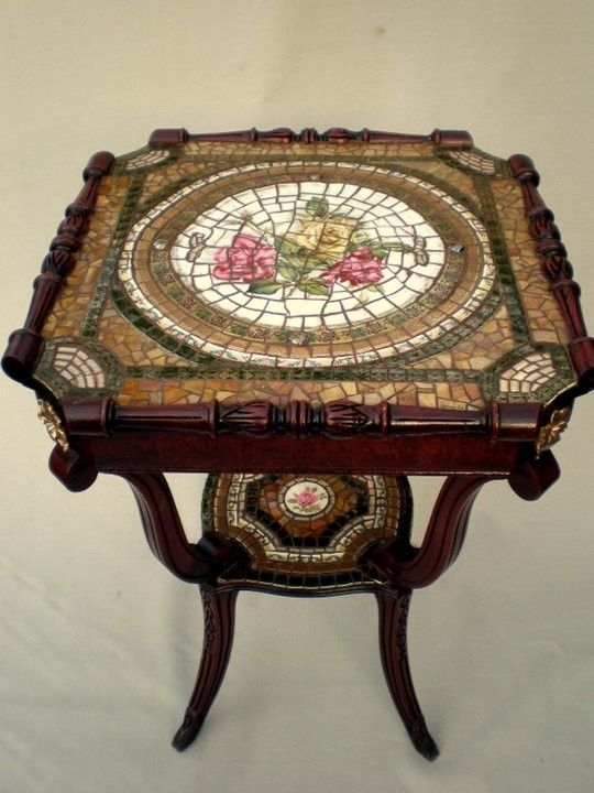 Hand Crafted Mosaic Table By Arc Designs By Ellen