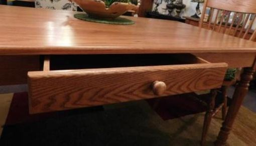 Custom Made Harvest Table With Drawer