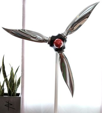 Custom Made 65'' American Ninja Airplane Propeller Art With Adjustable Blades