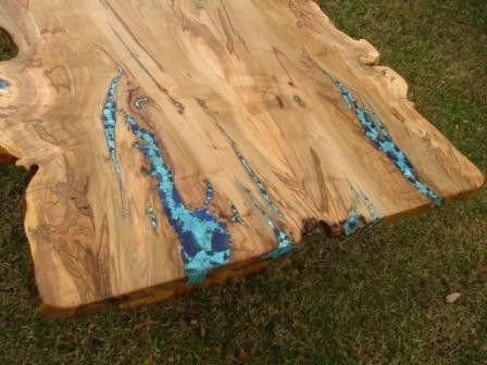 Custom Made Live Edge Ambrosia Maple Dining Table