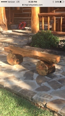 Custom Made Log Bench In Custom Lengths