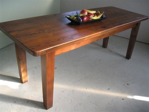 Custom Made Thick Rustic Wood Farm Table
