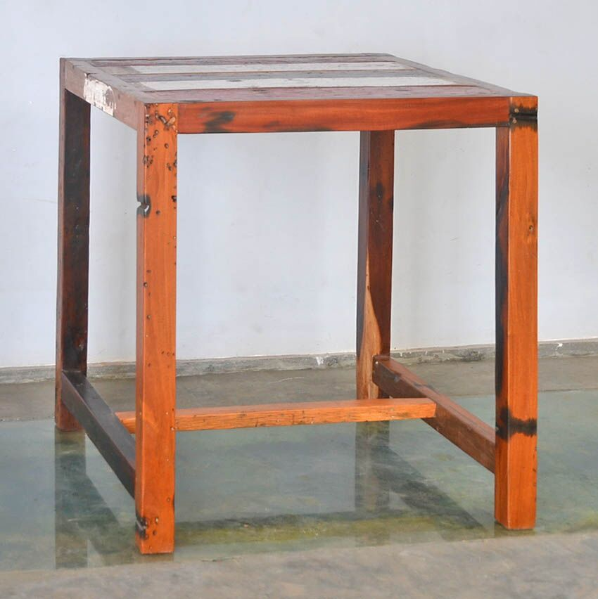 Remarkable Buy Custom Reclaimed Teak Bar Table Made Form Reclaimed Bali Inzonedesignstudio Interior Chair Design Inzonedesignstudiocom